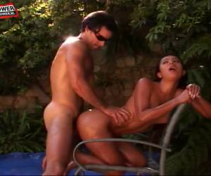 Slippery outdoor sex